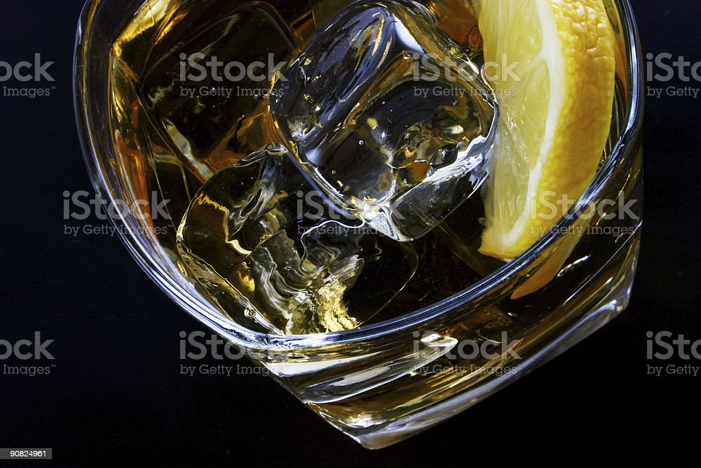 cold glass of alcohol stock photo