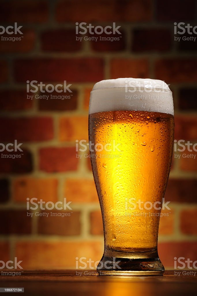 Cold Glass of Beer stock photo