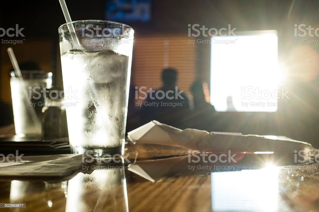 Cold Glass of Water royalty-free stock photo