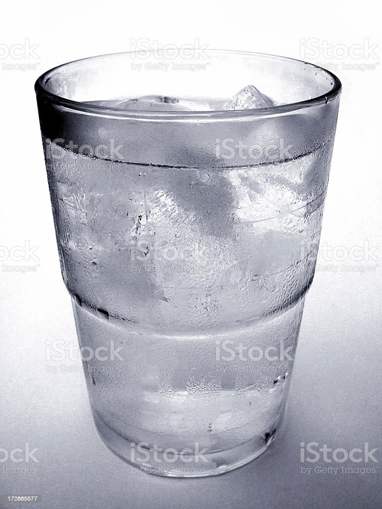 Cold Glass of Water with Condensation royalty-free stock photo