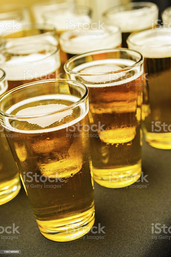 cold glasses of beer royalty-free stock photo