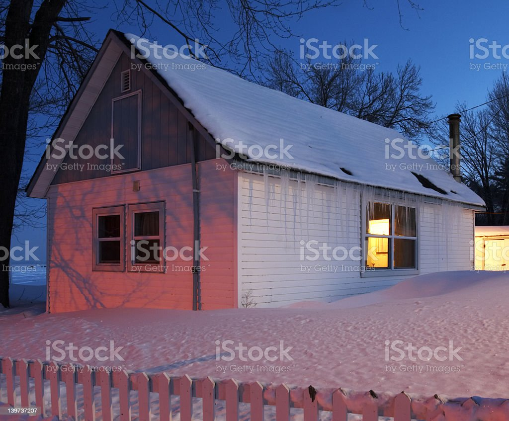 Cold house. royalty-free stock photo