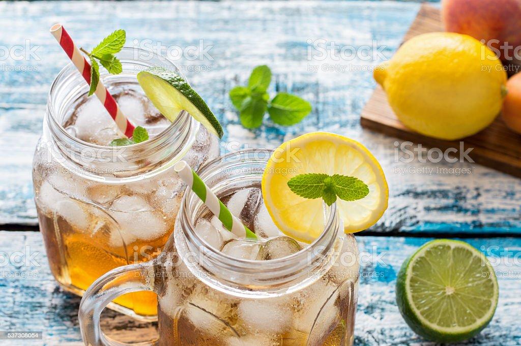 Cold Ice Tea stock photo