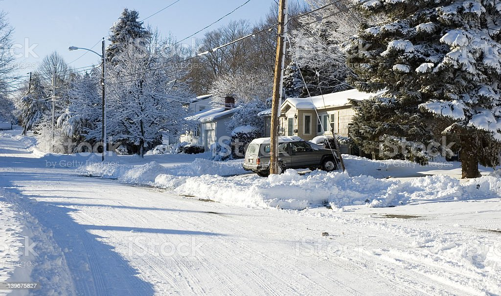 Cold in Suburbia royalty-free stock photo