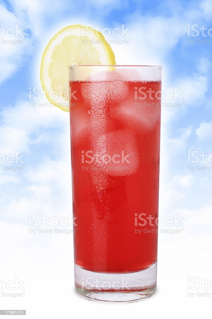 Cold Juice with Lemon royalty-free stock photo