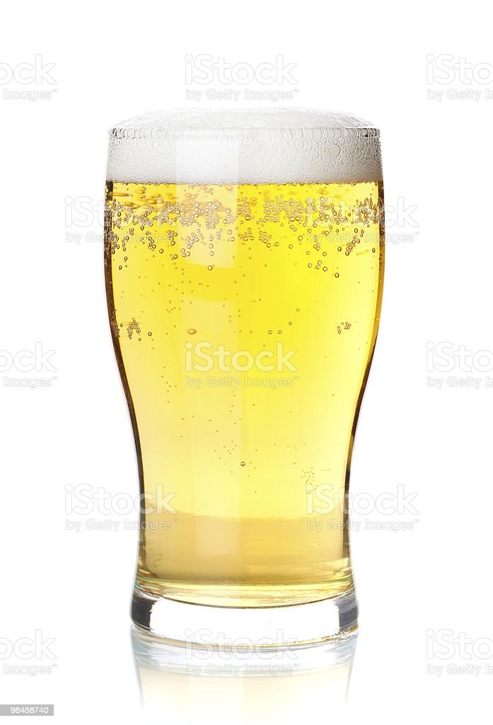Cold lager beer stock photo