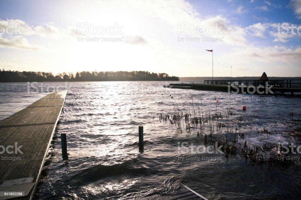 Cold Lake in Denmark stock photo