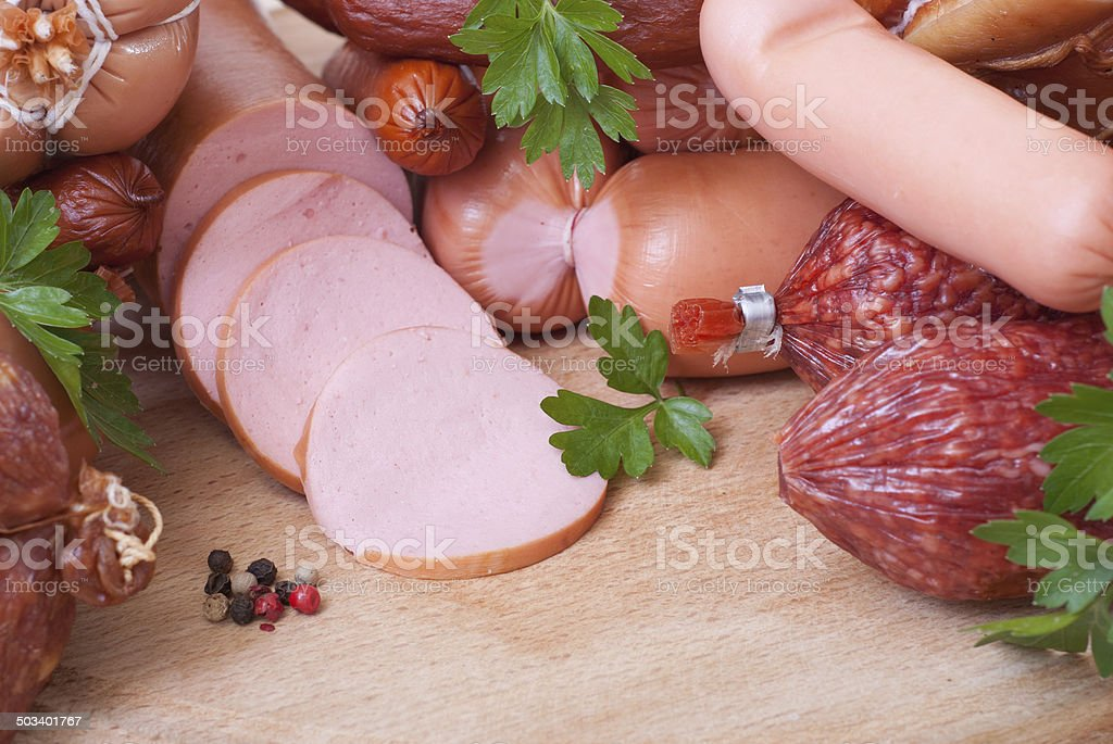 cold meats stock photo
