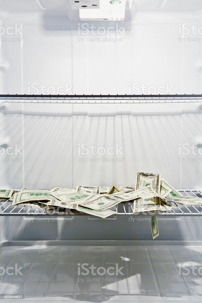 Cold Money stock photo