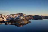 Cold Morning Crater Lake