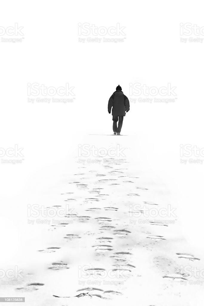 Cold Morning Walk royalty-free stock photo