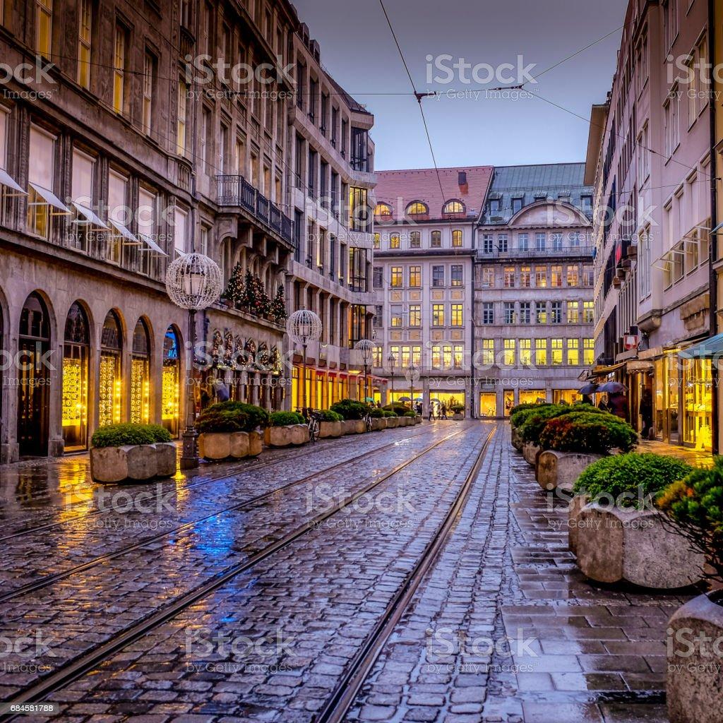 A cold Munich night stock photo