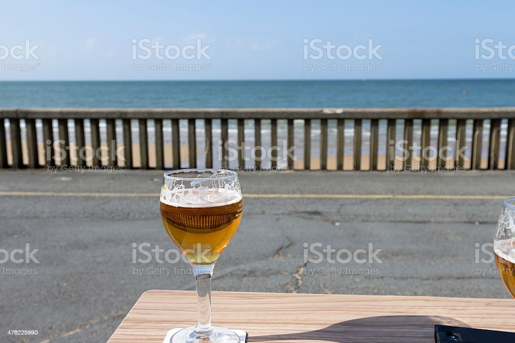 cold one on the table royalty-free stock photo