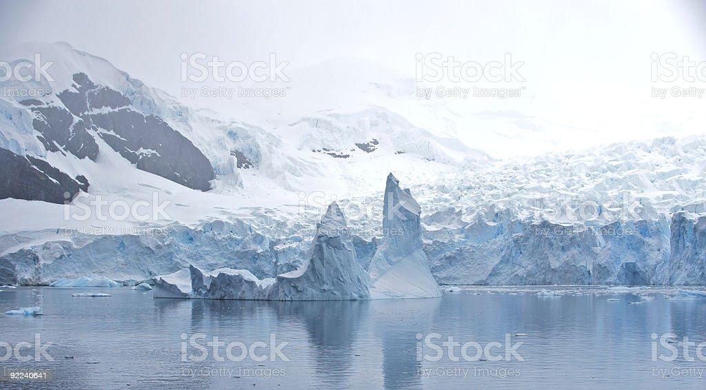 Cold Paradise Harbor in Antarctica stock photo