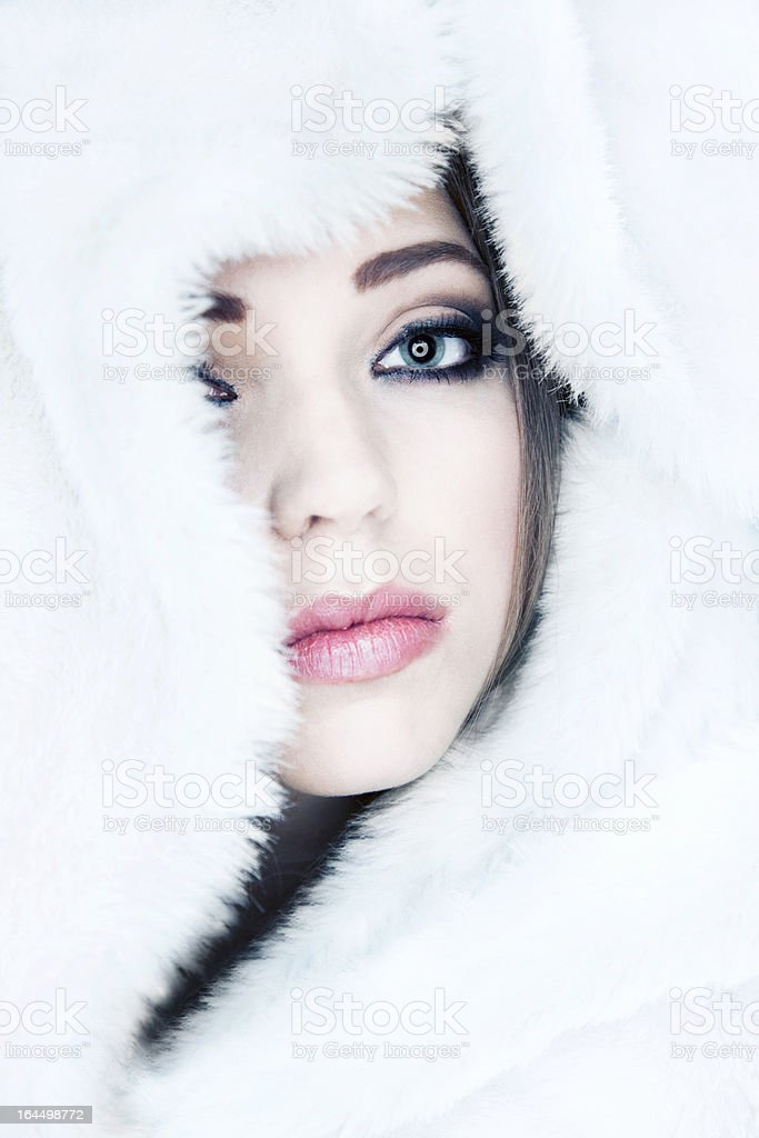 Cold portrait royalty-free stock photo