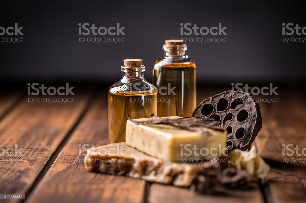 Cold pressed handmade soap stock photo