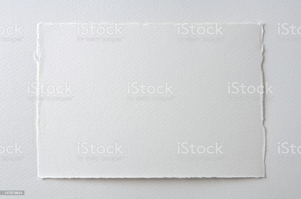 Cold Pressed Watercolor Paper stock photo