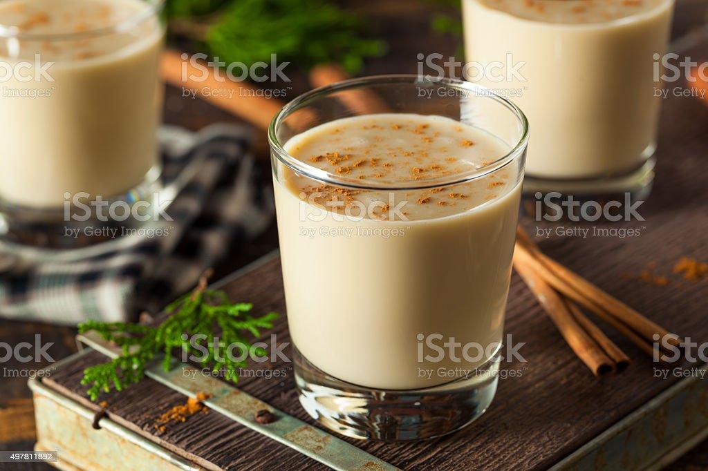 Cold Refreshing Eggnog Drink stock photo
