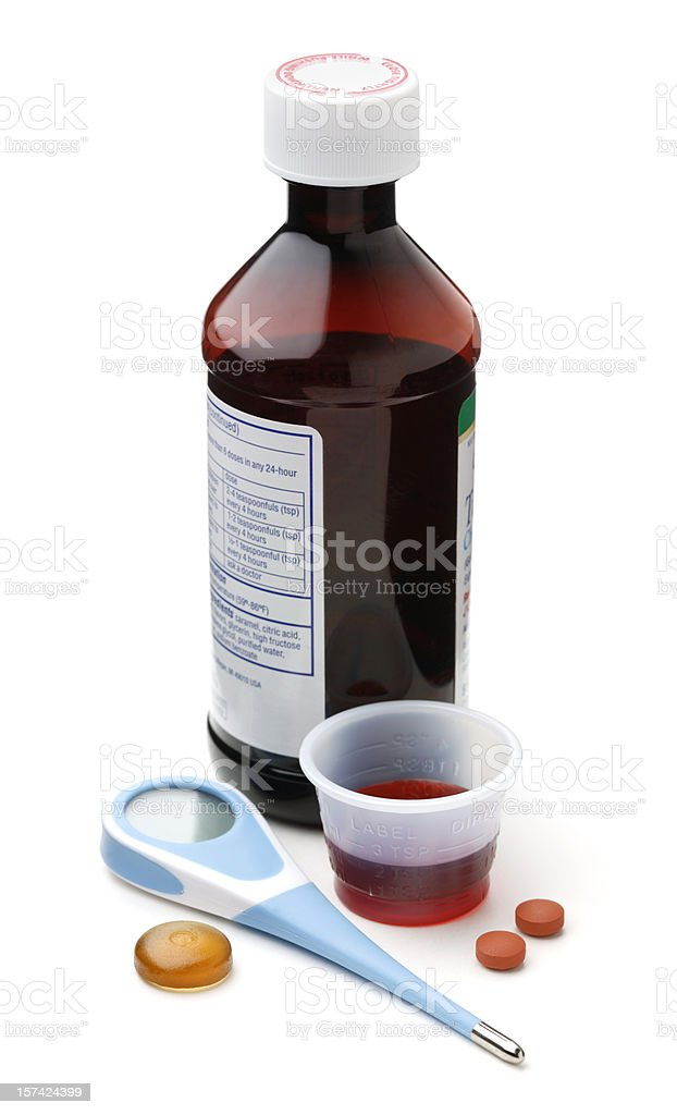 Cold Remedy Items royalty-free stock photo