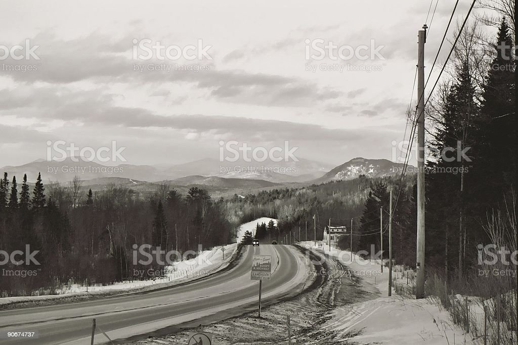 cold road to... stock photo
