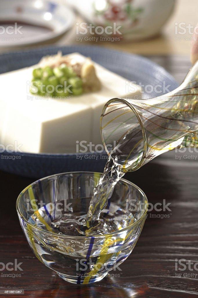 Cold sake stock photo