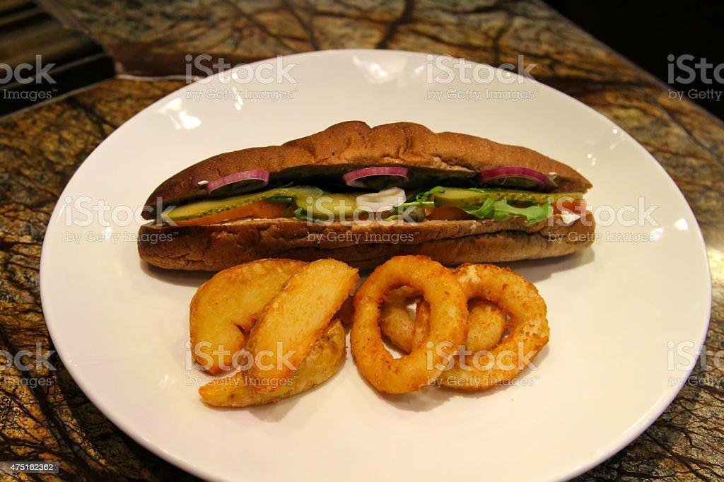 Cold sandwich stock photo