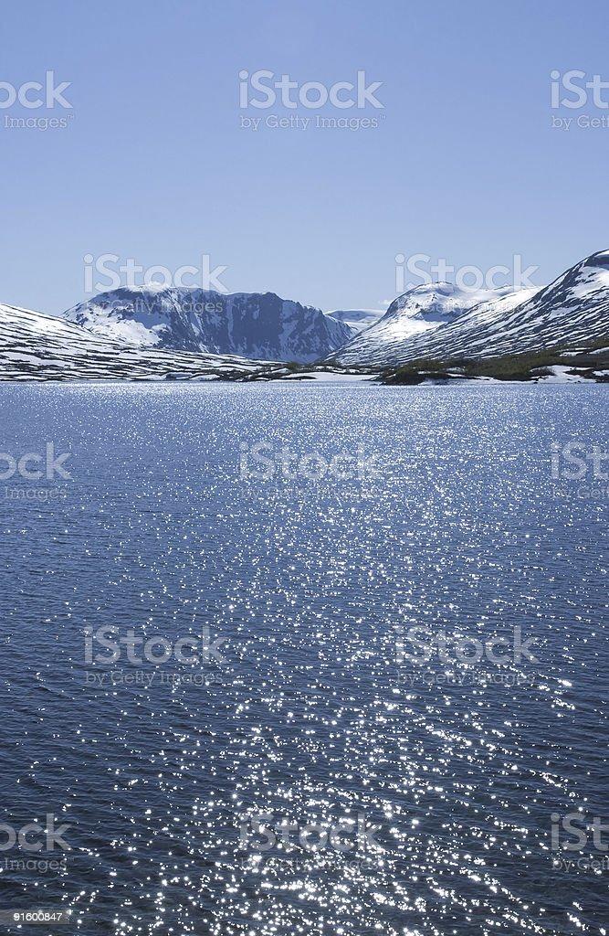Cold snow lake royalty-free stock photo
