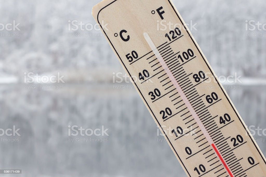 cold snowy winter stock photo