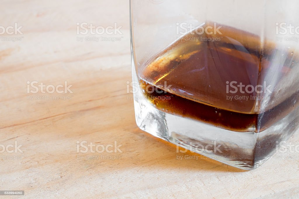 Cold soft drink in glass stock photo