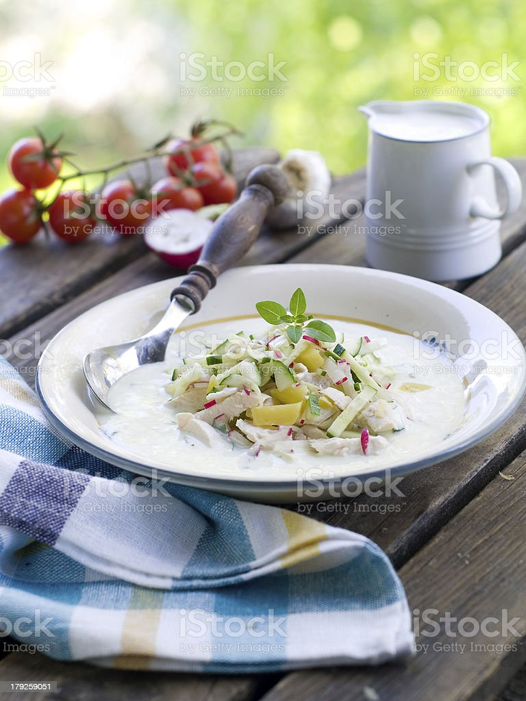 cold soup royalty-free stock photo