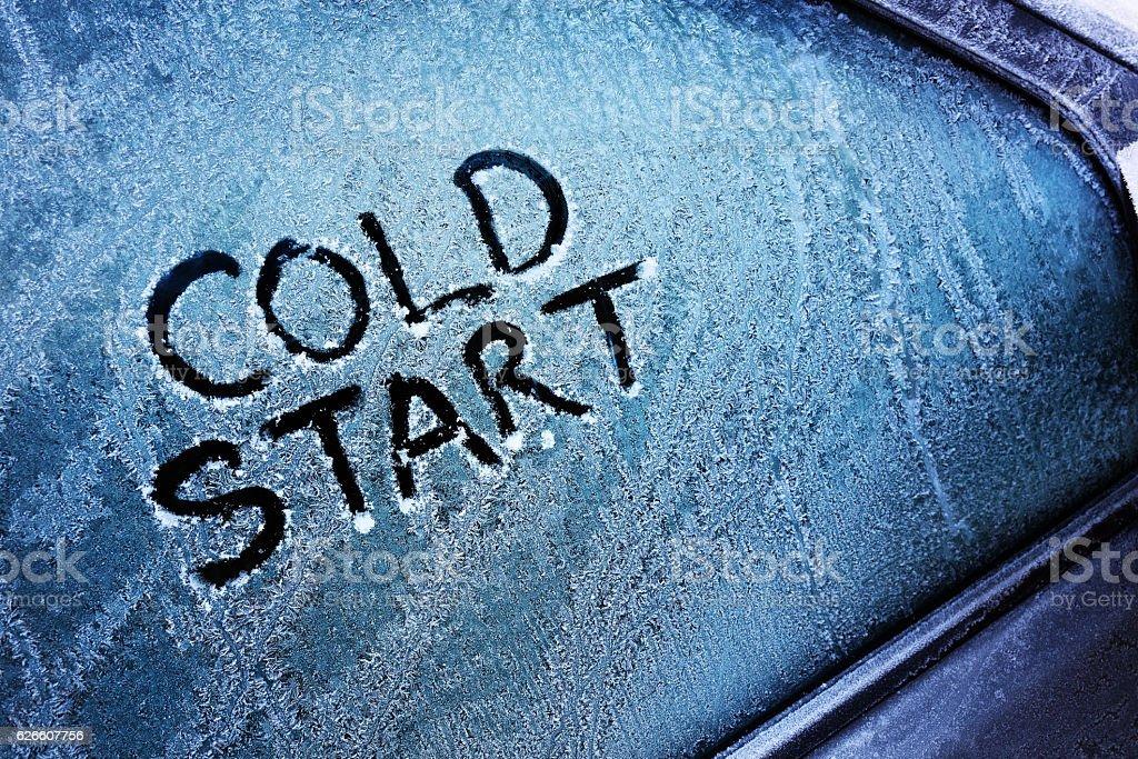 Cold start stock photo