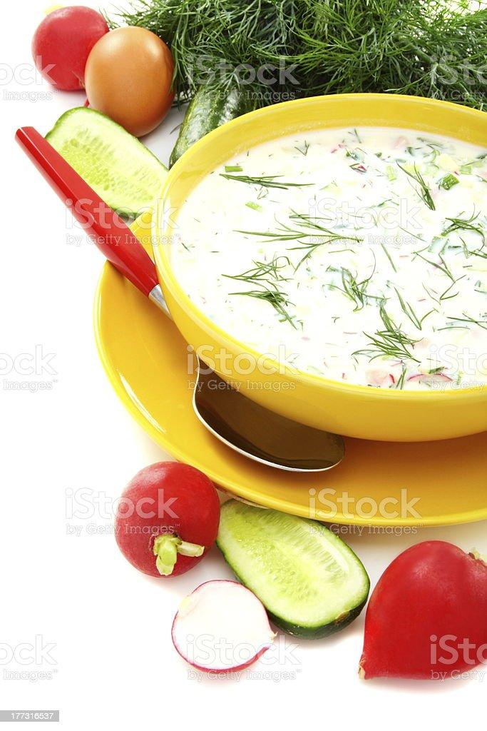 Cold summer soup kefir royalty-free stock photo