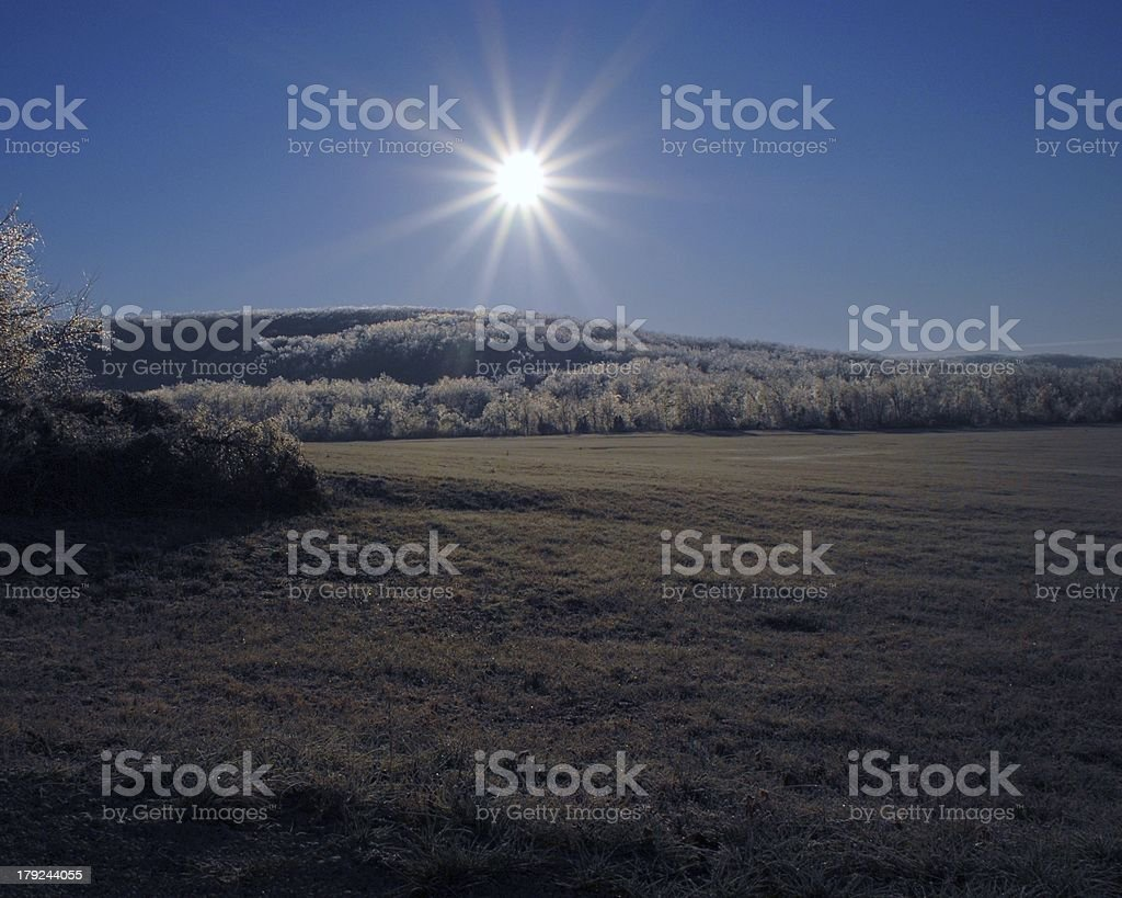 Hiver lever du soleil photo libre de droits