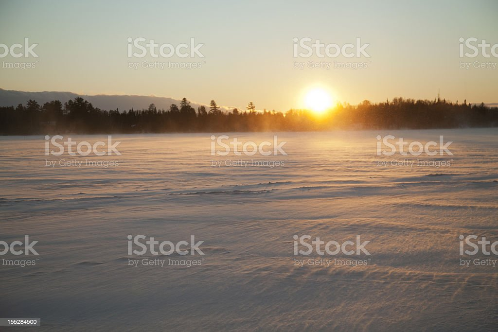 Cold Sunset royalty-free stock photo