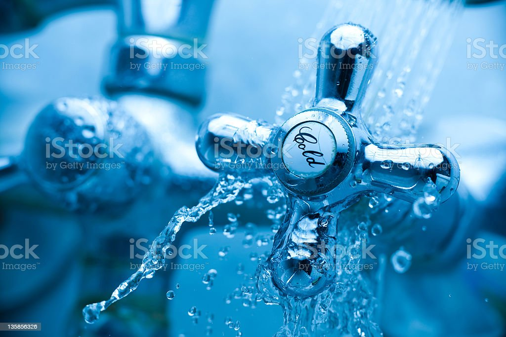 Cold tap royalty-free stock photo