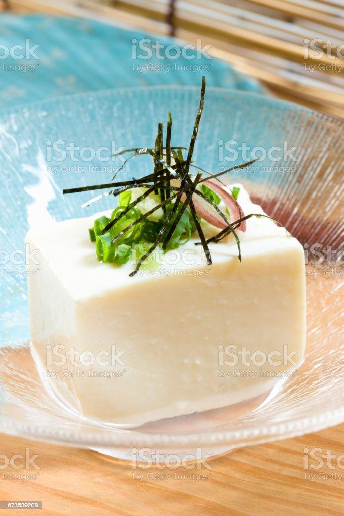 Cold tofu stock photo