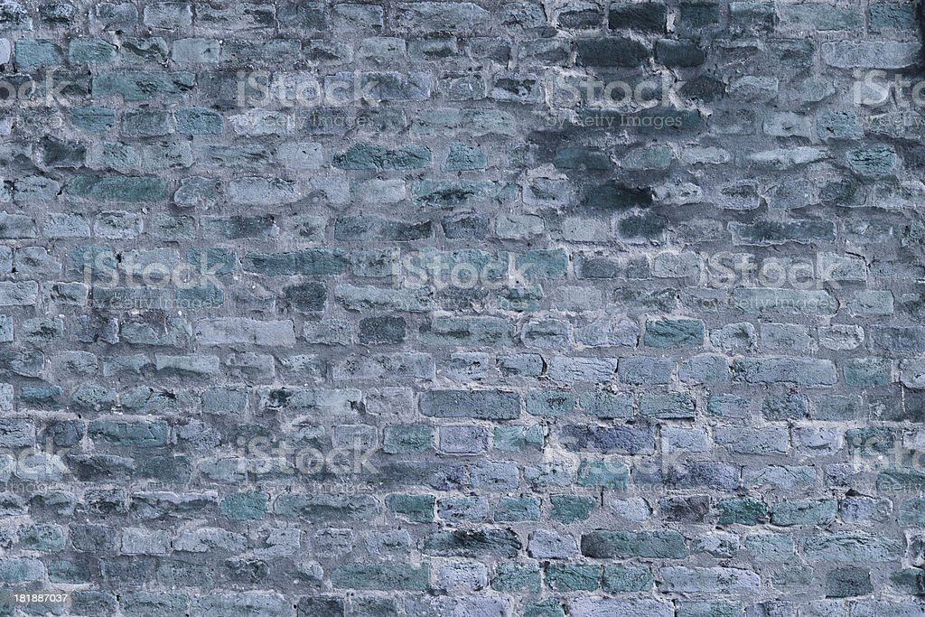 Cold toned brick wall background royalty-free stock photo