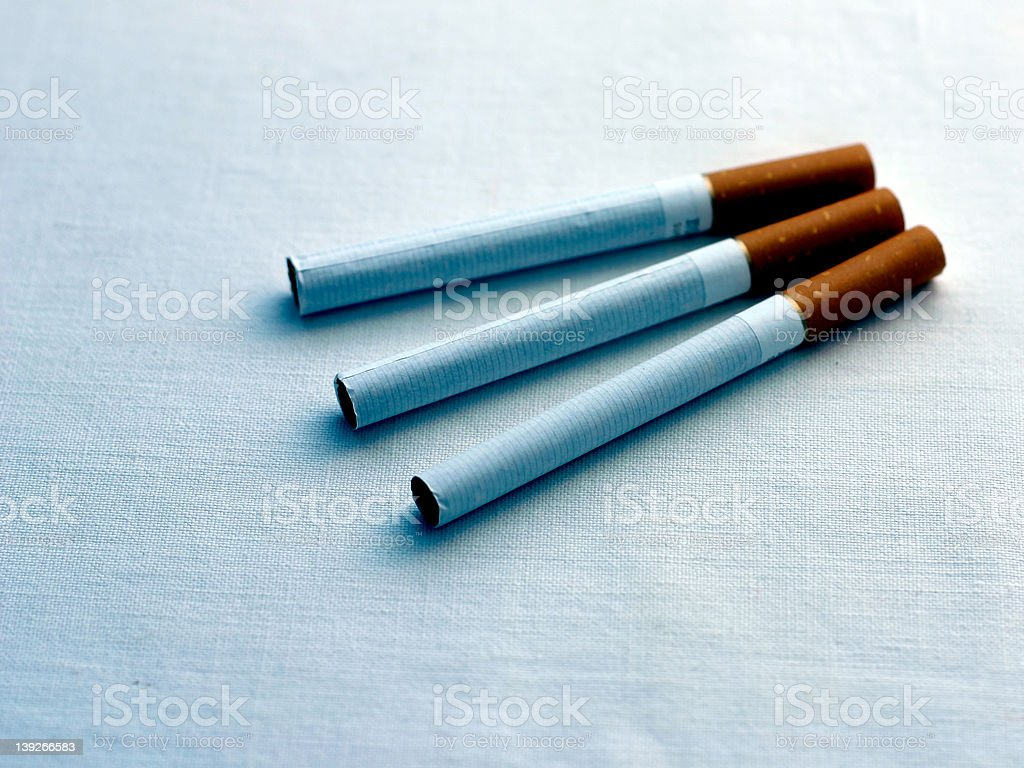 cold toned cigarettes royalty-free stock photo