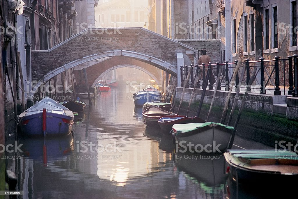 Cold Venetian misty morning. royalty-free stock photo