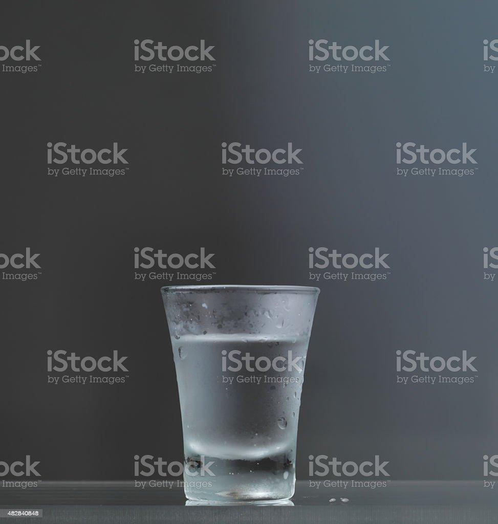 Cold vodka glass stock photo