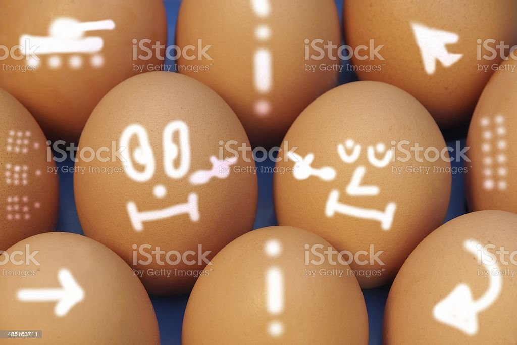 Cold War. Drawn Fragile Peace on Eggs. Concept and Idea. royalty-free stock photo