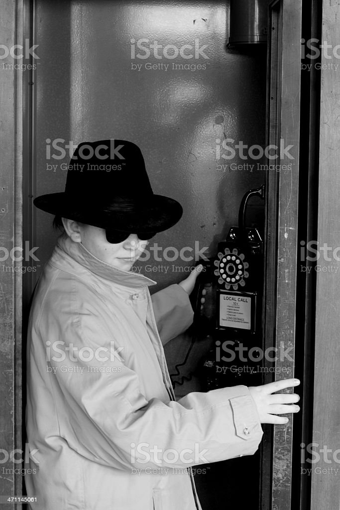 Cold War Era Spy royalty-free stock photo