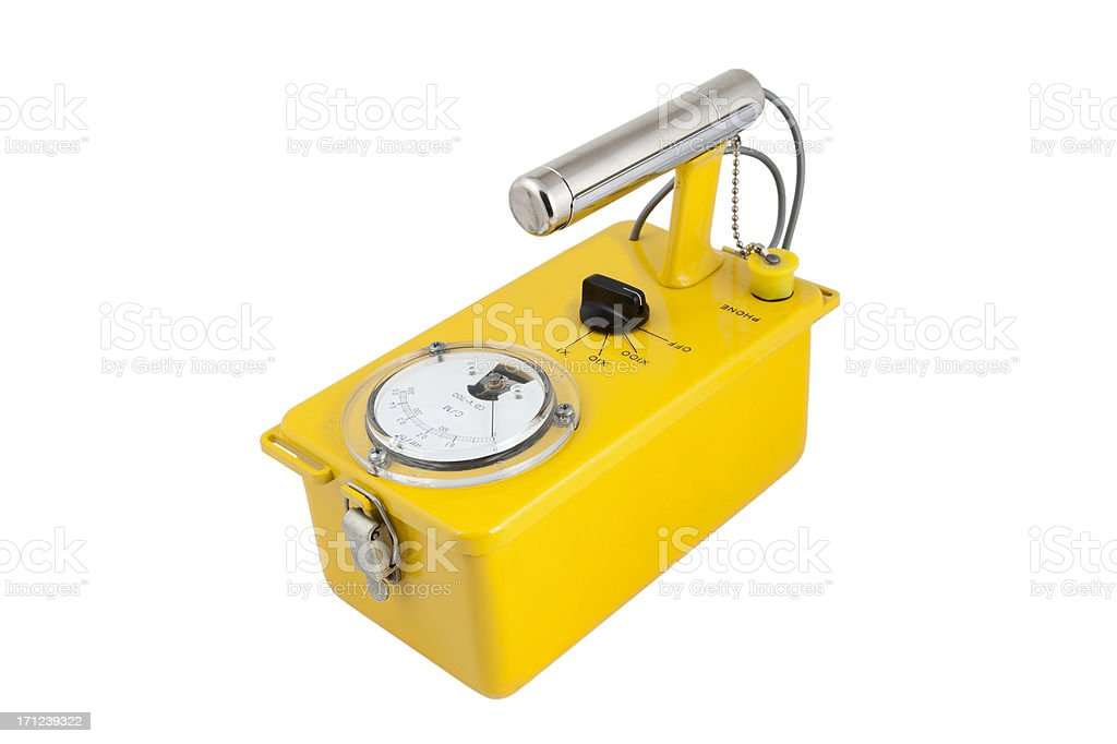 Cold War Geiger Counter stock photo