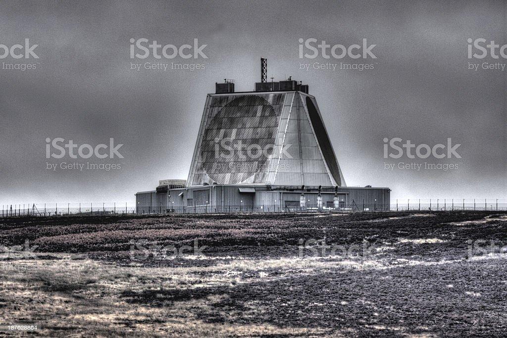 Cold War radar station stock photo