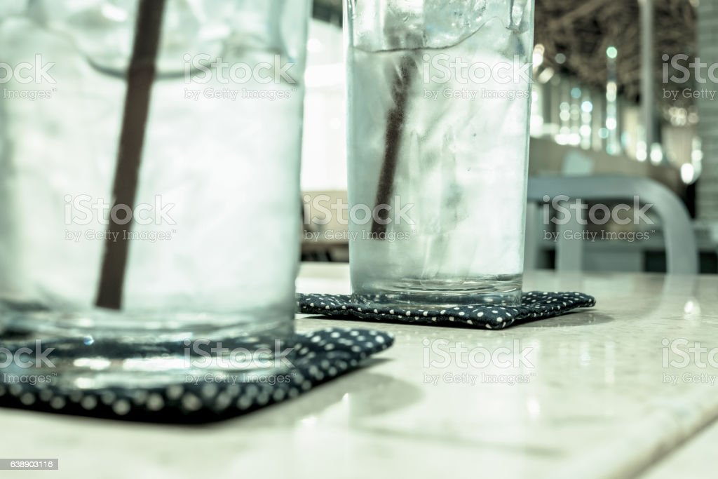 Cold water and ice stock photo