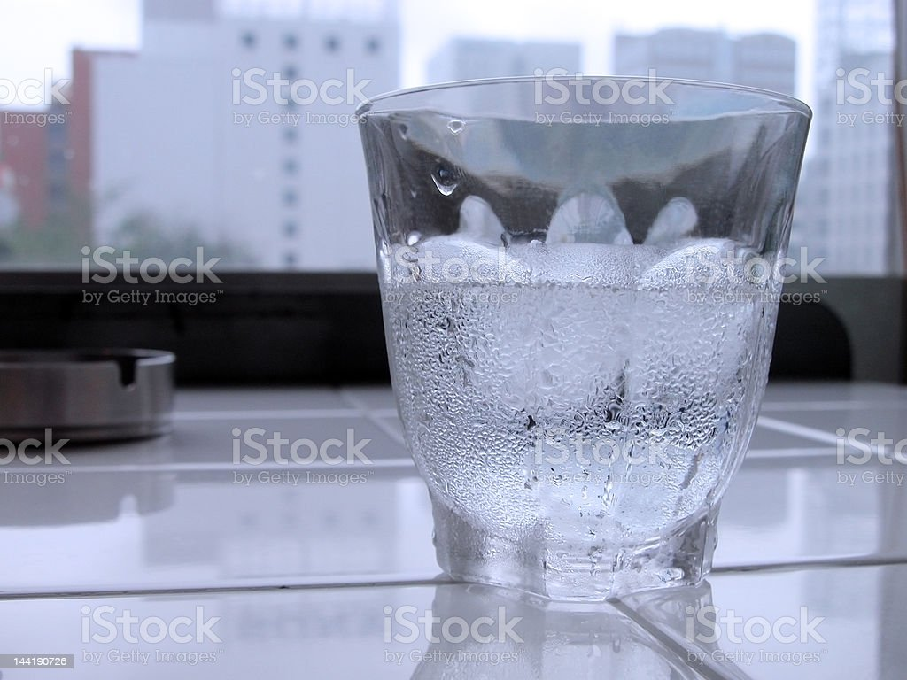 Cold water glass royalty-free stock photo