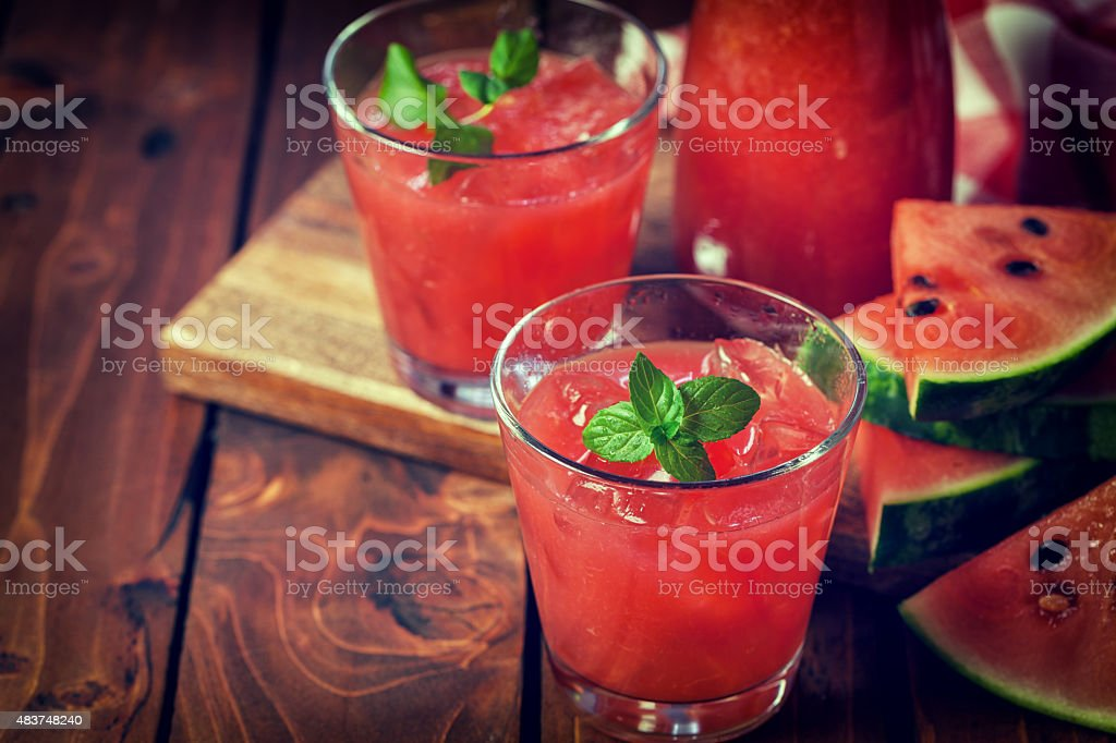 Cold Watermelon Smoothie stock photo