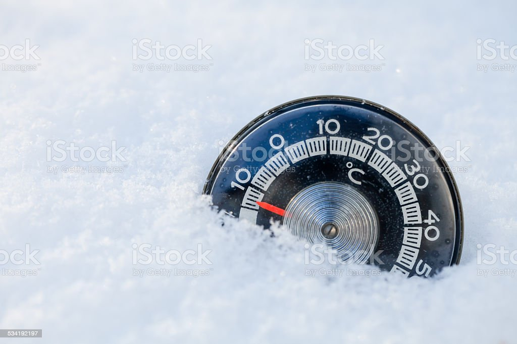 Cold weather concept stock photo