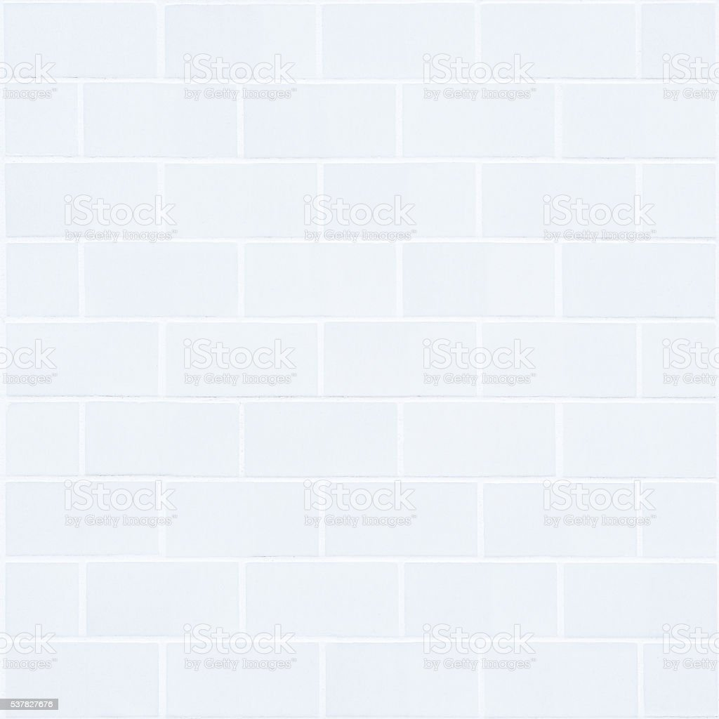 cold white rectangle brick mosaic in square form stock photo