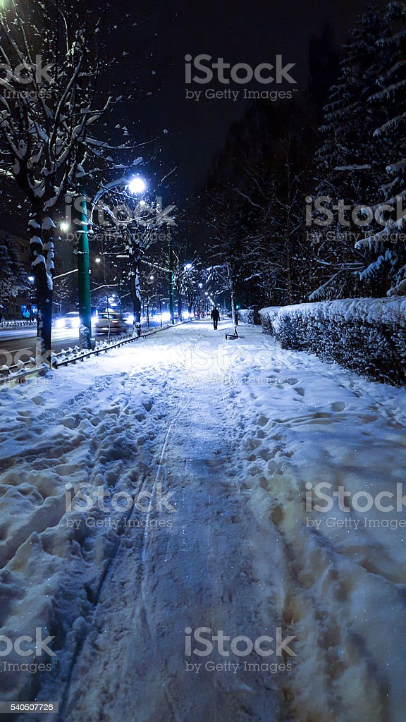 Cold Winter Night stock photo
